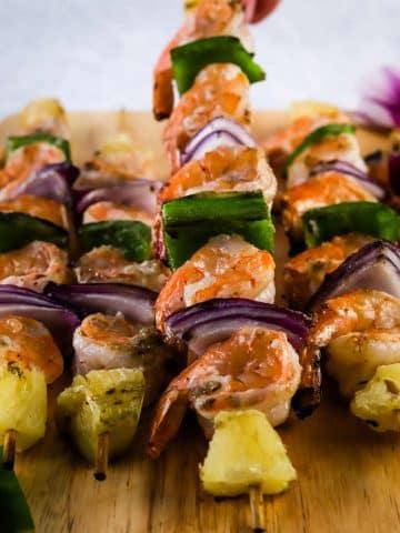 grilled shrimp kabob