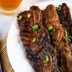 kalbi on while plate
