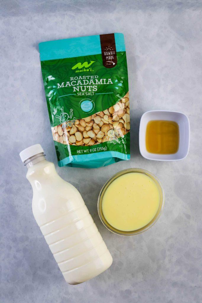no churn macadamia nut ice cream ingredients