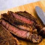 sliced pulehu steak
