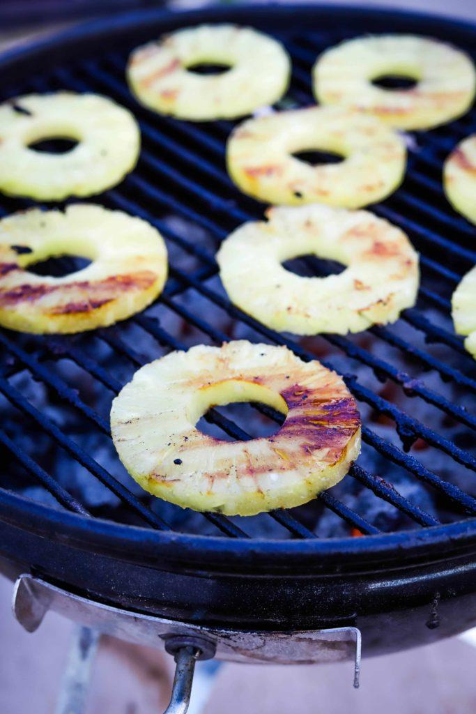 teriyaki burger grilled pineapple