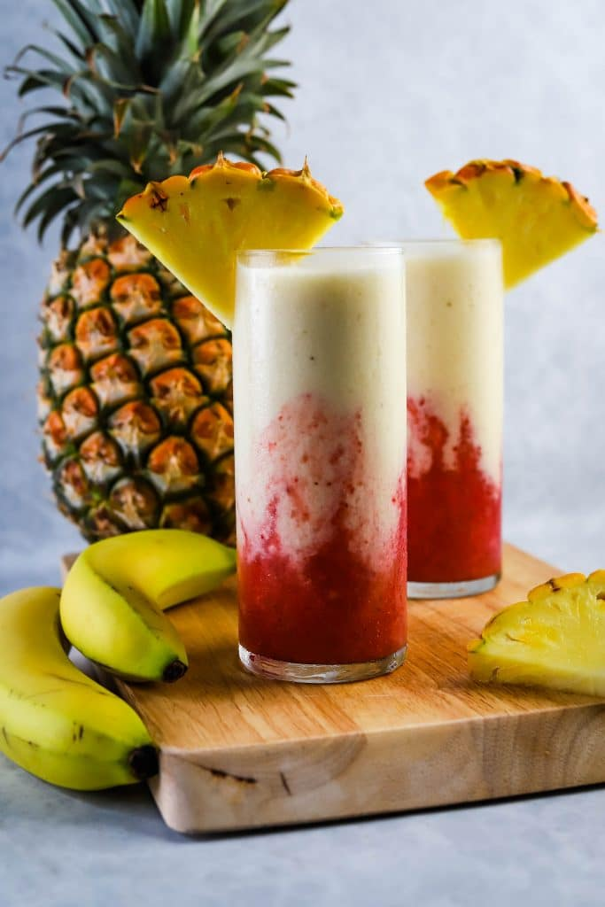 lava flow drink in tall glasses