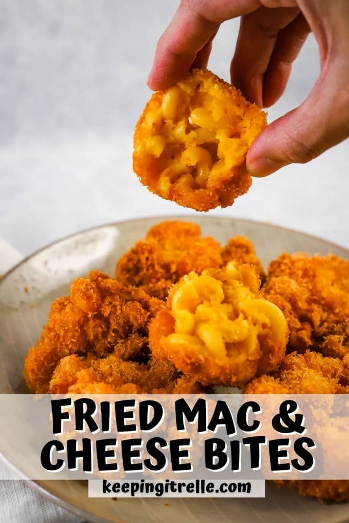 fried mac and cheese bites pin