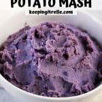 purple sweet potato mash