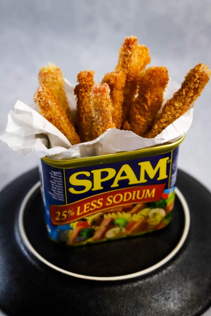spam can filled with spam fries